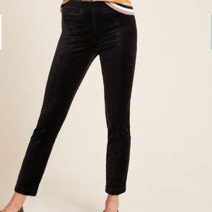 Anthropologie Velvet Essential Slim Trousers